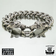 Rannekoru Steel Chain Wolf Head